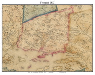 Freeport, Maine 1857 Old Town Map Custom Print - Cumberland Co.