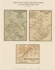 Bartol's Point Landing & Village, Strout's Point Village, Harraseeket Landing, Maine 1857 Old Town Map Custom Print - Cumberland Co.