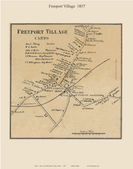 Freeport Village, Maine 1857 Old Town Map Custom Print - Cumberland Co.
