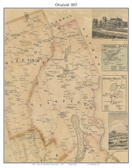 Otisfield, Maine 1857 Old Town Map Custom Print - Cumberland Co.