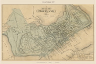 City of Portland, Maine 1857 Old Town Map Custom Print - Cumberland Co.