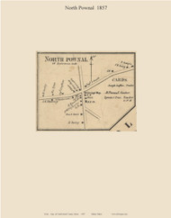 North Pownal, Maine 1857 Old Town Map Custom Print - Cumberland Co.