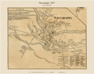 Saccarappa, Maine 1857 Old Town Map Custom Print - Cumberland Co.