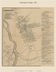 Farmington Village, Maine 1861 Old Town Map Custom Print - Franklin Co.