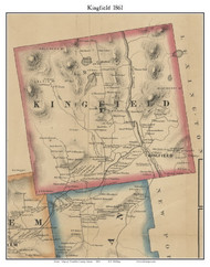 Kingfield, Maine 1861 Old Town Map Custom Print - Franklin Co.