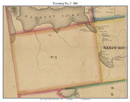 Township No. 3, Maine 1861 Old Town Map Custom Print - Franklin Co.