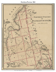 Northern Portion, Maine 1861 Old Town Map Custom Print - Franklin Co.