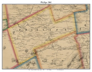 Phillips, Maine 1861 Old Town Map Custom Print - Franklin Co.