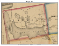 Rangely, Maine 1861 Old Town Map Custom Print - Franklin Co.
