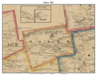 Salem, Maine 1861 Old Town Map Custom Print - Franklin Co.