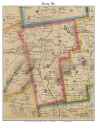 Strong , Maine 1861 Old Town Map Custom Print - Franklin Co.