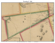 Township E, Maine 1861 Old Town Map Custom Print - Franklin Co.