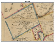 Weld, Maine 1861 Old Town Map Custom Print - Franklin Co.