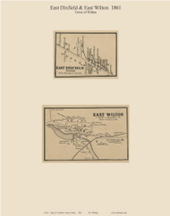 East Dixfield & West Wilton, Maine 1861 Old Town Map Custom Print - Franklin Co.