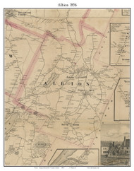 Albion, Maine 1856 Old Town Map Custom Print - Kennebec Co.