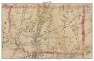 Augusta, Maine 1856 Old Town Map Custom Print - Kennebec Co.