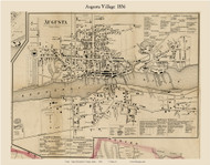 Augusta Village, Maine 1856 Old Town Map Custom Print - Kennebec Co.