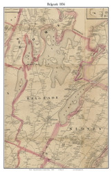 Belgrade, Maine 1856 Old Town Map Custom Print - Kennebec Co.