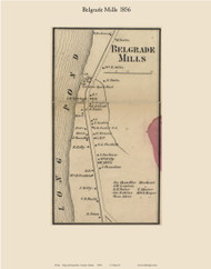 Belgrade Mills, Maine 1856 Old Town Map Custom Print - Kennebec Co.