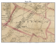 Benton, Maine 1856 Old Town Map Custom Print - Kennebec Co.