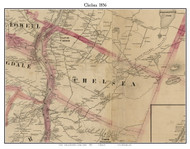 Chelsea, Maine 1856 Old Town Map Custom Print - Kennebec Co.