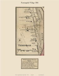 Farmingdale Village, Maine 1856 Old Town Map Custom Print - Kennebec Co.