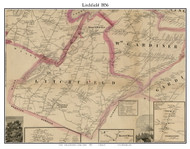 Litchfield, Maine 1856 Old Town Map Custom Print - Kennebec Co.