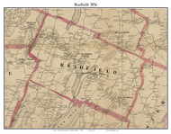 Readfield, Maine 1856 Old Town Map Custom Print - Kennebec Co.