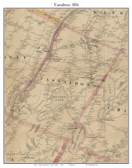 Vassalboro, Maine 1856 Old Town Map Custom Print - Kennebec Co.