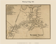 Winthrop Village, Maine 1856 Old Town Map Custom Print - Kennebec Co.
