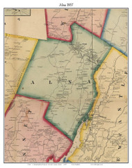Alna, Maine 1857 Old Town Map Custom Print - Lincoln Co.