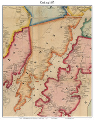 Cushing, Maine 1857 Old Town Map Custom Print - Lincoln Co.
