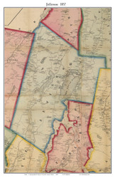 Jefferson, Maine 1857 Old Town Map Custom Print - Lincoln Co.