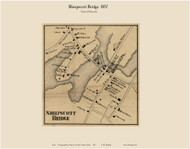 Sheepscott Bridge, Maine 1857 Old Town Map Custom Print - Lincoln Co.