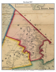 Rockland, Maine 1857 Old Town Map Custom Print - Lincoln Co.