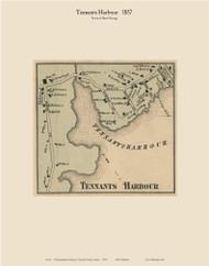 Tennants Harbor, Maine 1857 Old Town Map Custom Print - Lincoln Co.