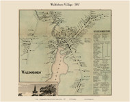 Waldoboro Village, Maine 1857 Old Town Map Custom Print - Lincoln Co.