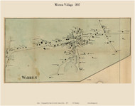 Warren Village, Maine 1857 Old Town Map Custom Print - Lincoln Co.