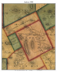 Andover, Maine 1858 Old Town Map Custom Print - Oxford Co.