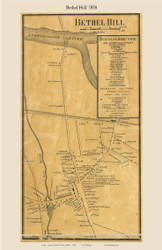 Bethel Hill, Maine 1858 Old Town Map Custom Print - Oxford Co.