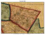 Dixfield, Maine 1858 Old Town Map Custom Print - Oxford Co.