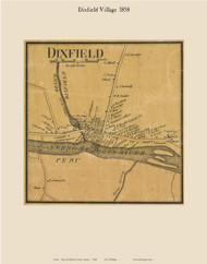 Dixfield Village, Maine 1858 Old Town Map Custom Print - Oxford Co.