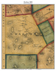 Grafton, Maine 1858 Old Town Map Custom Print - Oxford Co.