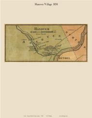 Hanover Village, Maine 1858 Old Town Map Custom Print - Oxford Co.