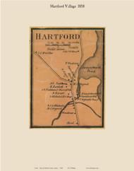 Hartford Village, Maine 1858 Old Town Map Custom Print - Oxford Co.