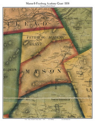 Mason & Fryeburg Academy Grant, Maine 1858 Old Town Map Custom Print - Oxford Co.