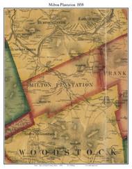 Milton Plantation, Maine 1858 Old Town Map Custom Print - Oxford Co.