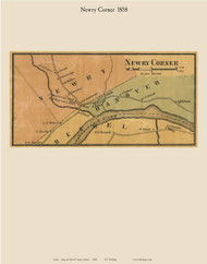 Newry Corner, Maine 1858 Old Town Map Custom Print - Oxford Co.