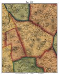 Peru, Maine 1858 Old Town Map Custom Print - Oxford Co.