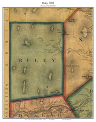 Riley, Maine 1858 Old Town Map Custom Print - Oxford Co.
